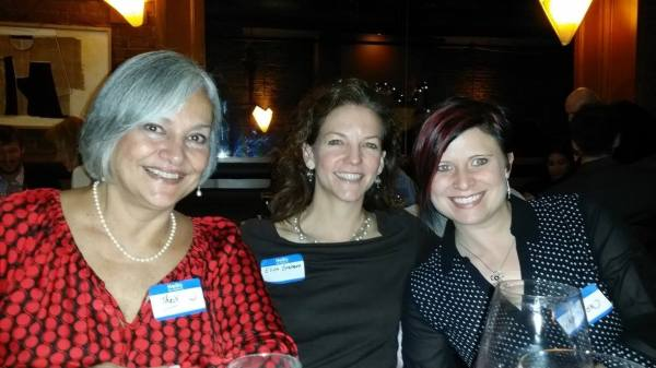 Me (left) with two fellow CTA members: Our Vice President Thais Lips (right), and fellow translator Eliza Graham (middle)